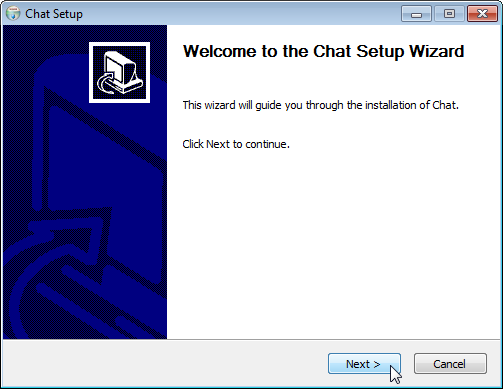 Screenshot of an installer generated with fbs on Windows